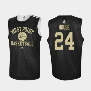 Men's Army #24 Jason Houle Black Practice College Basketball Jersey 460445-276