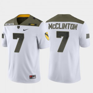 Men's United States Military Academy #7 Jaylon McClinton White 1st Cavalry Division Limited Edition Jersey 888981-648