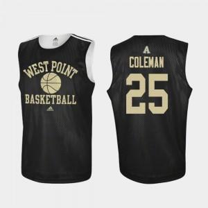 Men's West Point #25 Jordan Coleman Black Practice College Basketball Jersey 704968-510