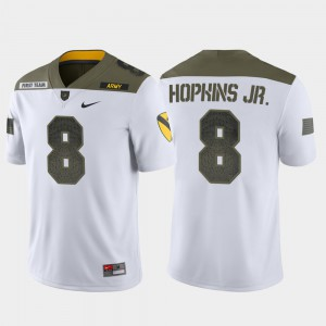 Men's United States Military Academy #8 Kelvin Hopkins Jr. White 1st Cavalry Division Limited Edition Jersey 741096-591