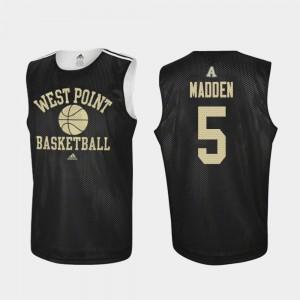 Men Army Black Knights #5 Mark Madden Black Practice College Basketball Jersey 403442-386