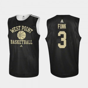 Men's Army West Point #3 Tommy Funk Black Practice College Basketball Jersey 735289-972