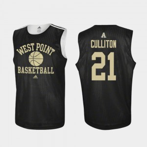 Men West Point #21 Will Culliton Black Practice College Basketball Jersey 361302-683