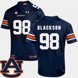 Men Auburn #98 Angelo Blackson Navy College Football SEC Patch Replica Jersey 946016-814