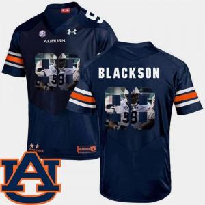 Men Auburn #98 Angelo Blackson Navy Pictorial Fashion Football Jersey 558538-993
