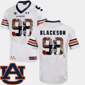 Mens AU #98 Angelo Blackson White Pictorial Fashion Football Jersey 401024-793