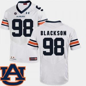 Mens AU #98 Angelo Blackson White College Football SEC Patch Replica Jersey 955313-812