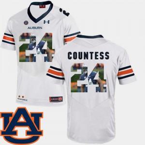 Men Auburn University #24 Blake Countess White Pictorial Fashion Football Jersey 747127-920