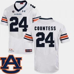 For Men Auburn #24 Blake Countess White College Football SEC Patch Replica Jersey 479618-917