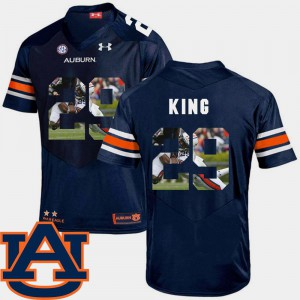 Men's Auburn Tigers #29 Brandon King Navy Pictorial Fashion Football Jersey 834541-207