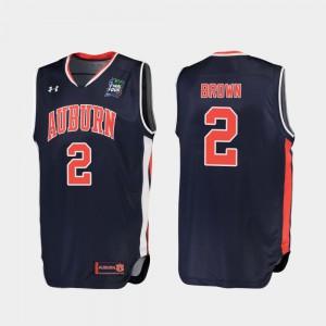 For Men's Auburn #2 Bryce Brown Navy 2019 Final-Four Replica Jersey 132396-926