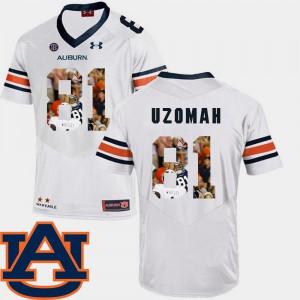 Men AU #81 C.J. Uzomah White Pictorial Fashion Football Jersey 480311-553