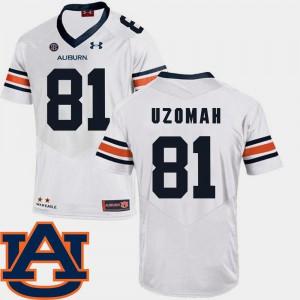 Men's AU #81 C.J. Uzomah White College Football SEC Patch Replica Jersey 150057-477