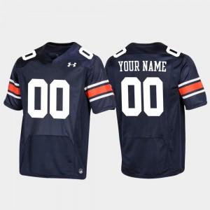 Men Auburn Tigers #00 Navy Replica Football Customized Jerseys 638220-661