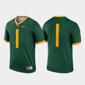 For Men's BU #1 Green Legend College Football Jersey 710501-466