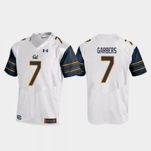 For Men Berkeley #7 Chase Garbers White College Football Replica Jersey 115717-780