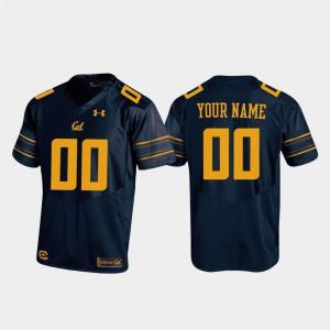 Men Cal Golden Bears #00 Navy Replica Football Custom Jersey 945258-706