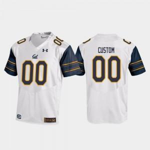 For Men UC Berkeley #00 White College Football Replica Customized Jerseys 168969-337