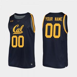 Men's California Berkeley #00 Navy Replica 2019-20 College Basketball Custom Jerseys 448066-231
