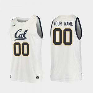 For Men UC Berkeley #00 White Replica 2019-20 College Basketball Customized Jerseys 747702-688