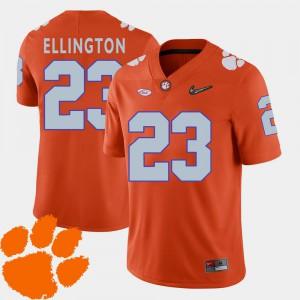For Men Clemson University #23 Andre Ellington Orange College Football 2018 ACC Jersey 559545-244