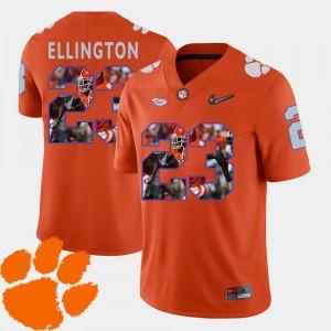 For Men CFP Champs #23 Andre Ellington Orange Pictorial Fashion Football Jersey 976669-823