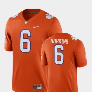 For Men's Clemson National Championship #6 DeAndre Hopkins Orange Game College Football Jersey 280133-708