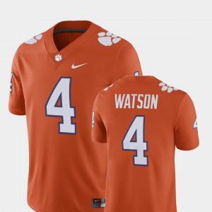 Men's Clemson #4 Deshaun Watson Orange Alumni Football Game Player Jersey 380818-955