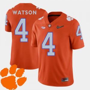 Mens Clemson Tigers #4 DeShaun Watson Orange College Football 2018 ACC Jersey 762283-765