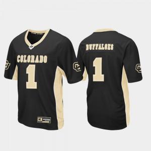 For Men's Colorado Buffaloes #1 Black Max Power Football Jersey 281960-569