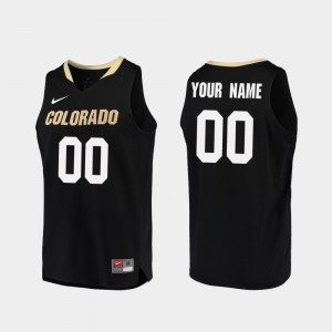 Men Colorado #00 Black Replica College Basketball Custom Jersey 606687-581