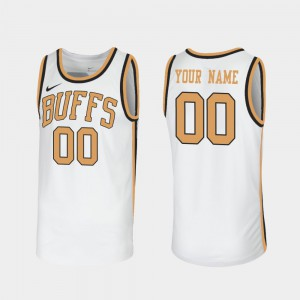 Men's Buffaloes #00 White Throwback Sox Walseth-Era Custom Jersey 652632-990