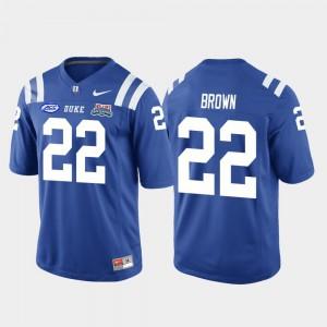 Men Duke University #22 Brittain Brown Royal 2018 Independence Bowl College Football Game Jersey 178092-718