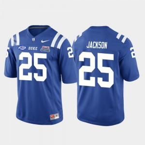 For Men's Blue Devils #25 Deon Jackson Royal 2018 Independence Bowl College Football Game Jersey 915177-792
