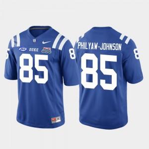 Men Duke University #85 Damond Philyaw-Johnson Royal 2018 Independence Bowl College Football Game Jersey 121441-337