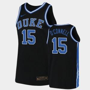 For Men Blue Devils #15 Alex O'Connell Black Replica 2019-20 College Basketball Jersey 685241-574