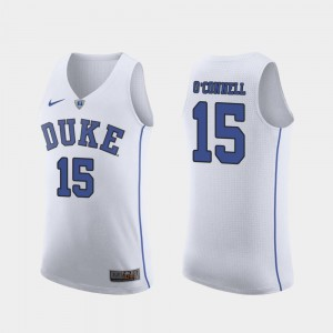 Men Duke #15 Alex O'Connell White Authentic March Madness College Basketball Jersey 807247-290