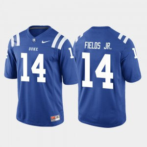For Men Blue Devils #14 Bryon Fields Jr. Royal College Football Game Jersey 474648-471