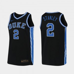 Mens Duke Blue Devils #2 Cassius Stanley Black Replica 2019-20 College Basketball Jersey 390651-499