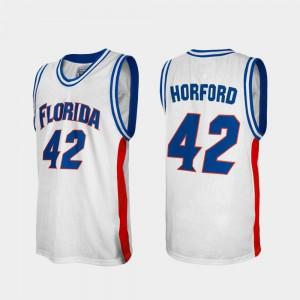 For Men University of Florida #42 Al Horford White Alumni College Basketball Jersey 837981-269