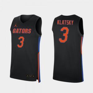 Mens UF #3 Alex Klatsky Black Replica 2019-20 College Basketball Jersey 663464-656