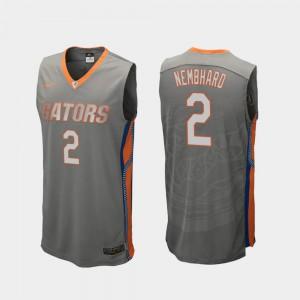 Men Florida #2 Andrew Nembhard Gray Replica College Basketball Jersey 629041-607