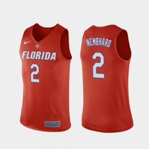 Men's Florida Gator #2 Andrew Nembhard Orange Replica College Basketball Jersey 473527-425