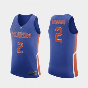 Men's Florida #2 Andrew Nembhard Royal Authentic College Basketball Jersey 263162-392