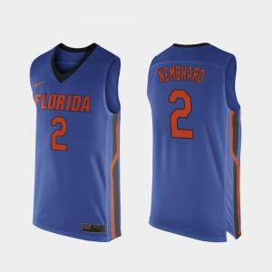 Men Florida Gators #2 Andrew Nembhard Royal Blue Replica College Basketball Jersey 220074-545
