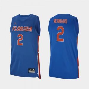 Men's Florida #2 Andrew Nembhard Royal Replica College Basketball Jersey 762515-499