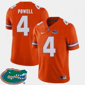 For Men Florida #4 Brandon Powell Orange College Football 2018 SEC Jersey 730846-782