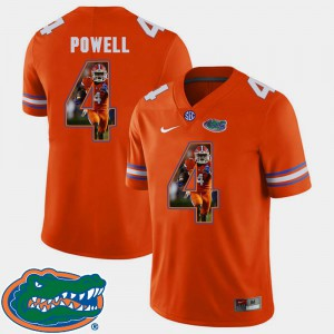 Men's Florida #4 Brandon Powell Orange Pictorial Fashion Football Jersey 481124-675