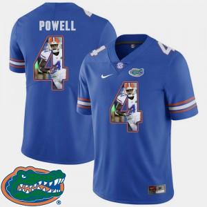 Men's UF #4 Brandon Powell Royal Pictorial Fashion Football Jersey 278773-878
