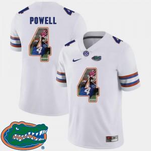 Men's UF #4 Brandon Powell White Pictorial Fashion Football Jersey 573409-815